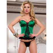 Emerald Green Sweetheart Lace Up Corset