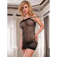 Sexy Black Fishnet Dress