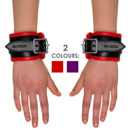 Slap Leather Padded Leather Wrist Cuffs