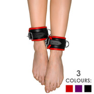 Slap Leather Padded Leather Ankle Cuffs