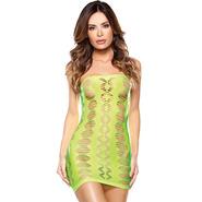 Vixen Neon Diamond Cut Out Tube Dress