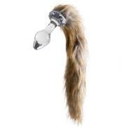 Kinky Tails Natural Wolf Glass Butt Plug