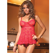 Coquette Ruby Lace Babydoll