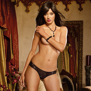 Dreamgirl Black Be Cheeky Sequin Knickers