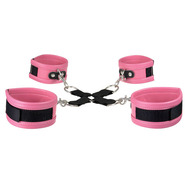 Super Soft Faux Leather Pink Hog Tie Restraints