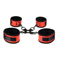 Ravishing Red PVC Hog Tie Restraints