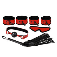 Ravishing Red PVC 5 Piece Bondage Kit