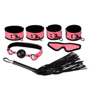 Pretty in Pink PVC 5 Piece Bondage Kit