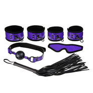 Perfectly Purple PVC 5 Piece Bondage Kit