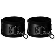 Beautifully Black PVC Handcuffs