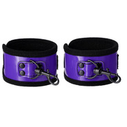 Perfectly Purple PVC Handcuffs
