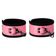 Pretty in Pink PVC Ankle Cuffs