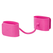 Pink Adjustable Silicone Wrist Cuffs