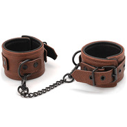 Luxury Brown Leather Wrist Cuffs