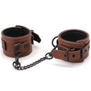 Luxury Brown Leather Wrist Cuffs