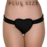 Plus Size Love Heart Female Leather Chastity Belt