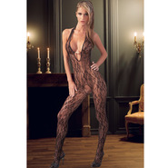 Pearl Halterneck Crotchless Bodystocking