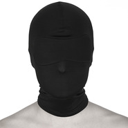 Bondage Spandex Hood and Blindfold - Black
