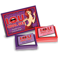 I.O.U Oral Sex Cards