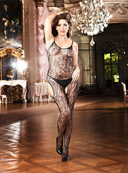 Baci Queen Flower Lace Peek-A-Boo Bodystocking