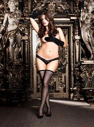 Baci Plus Size Crotchless Lace Thong