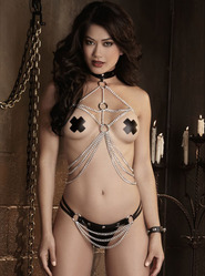 Dreamgirl Silver Chain Harness Set