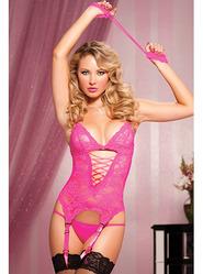 Seven Til Midnight Midnight Affair Pink Lace Cami