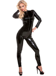 Latex Look Whiplash Catsuit