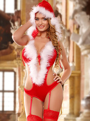 Sexy Claus Teddy and Stockings Set