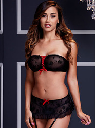 Baci Bandeau Bra and Garter Skirt Set