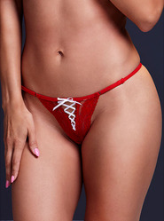 Baci Red Corset Thong