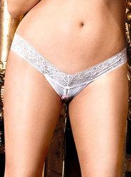 Baci White Label Plus Crotchless Thong