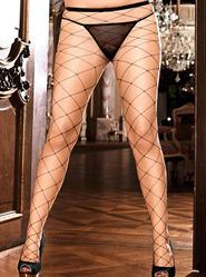 Baci White Label Plus Diamond Net Pantyhose