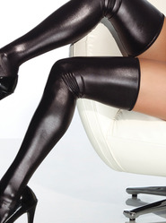 Coquette Darque Wet Look Stockings