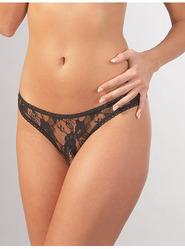 Open Crotch Lace Thong