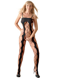 Crotchless Wide Net Catsuit