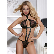 Leather and Lace Teddy