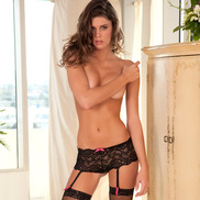 Rene Rofe Crotchless Lace Boy Short